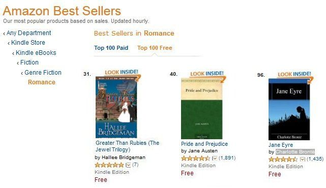 Greater Than Rubies 3 days later is in the top 50 in ROMANCE