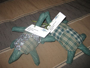 Studded Tadeo Turtles made by Janis inspired by her book
