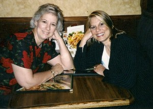 Justina (left) with her sister, Anna